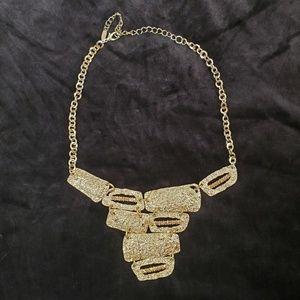 Vintage VCLM gold tone & rhinestone necklace